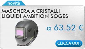 IN PROMOZIONE: Maschera a cristalli liquidi Ambition SOGES