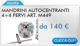 IN PROMOZIONE: Mandrini autocentranti 4+4 FERVI art. M449