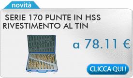 IN PROMOZIONE: Serie 170 punte in HSS rivestimento al TIN