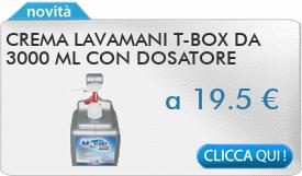 IN PROMOZIONE: Crema lavamani T-box da 3000 ml con dosatore