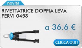 IN PROMOZIONE: Rivettatrice doppia leva FERVI 0453