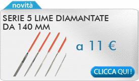 IN PROMOZIONE: Serie 5 lime diamantate da 140 mm