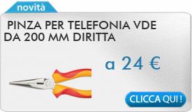 IN PROMOZIONE: Pinza per telefonia VDE da 200 mm diritta 2950.200 CAROLUS