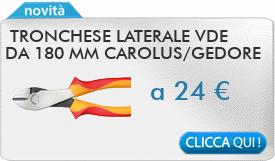 IN PROMOZIONE: Tronchese laterale VDE da 180 mm CAROLUS 2945.180