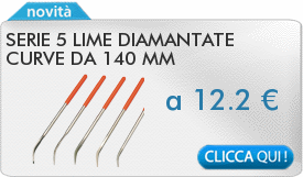 IN PROMOZIONE: Serie 5 lime diamantate curve da 140 mm