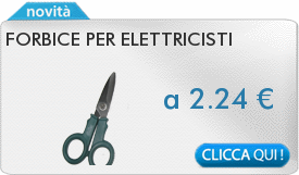 IN PROMOZIONE: Forbice per elettricisti
