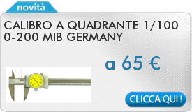 IN PROMOZIONE: Calibro a quadrante 1/100 0-200 MIB GERMANY