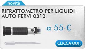 IN PROMOZIONE: Rifrattometro per liquidi auto FERVI 0312