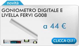 IN PROMOZIONE: Goniometro digitale e livella FERVI G008