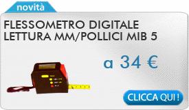 IN PROMOZIONE: Flessometro digitale lettura mm/pollici MIB 5 metri