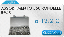 IN PROMOZIONE: Assortimento 560 rondelle inox