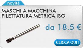 IN PROMOZIONE: Maschi a macchina filettatura metrica ISO passo fine