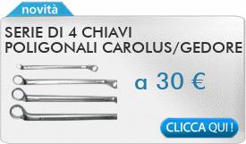IN PROMOZIONE: Serie di 4 chiavi poligonali CAROLUS 8-27