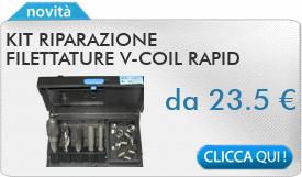 IN PROMOZIONE: Kit riparazione filettature V-COIL RAPID Volkel