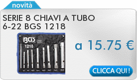 IN PROMOZIONE: Serie 8 chiavi a tubo 6-22 BGS 1218