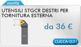 IN PROMOZIONE: Utensili STGCR destri per tornitura esterna