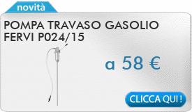 IN PROMOZIONE: Pompa travaso gasolio FERVI P024/15
