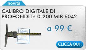 IN PROMOZIONE: Calibro digitale di profondità 0-200 MIB 6042
