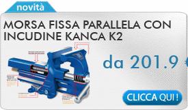 IN PROMOZIONE: Morsa fissa parallela con incudine KANCA K2