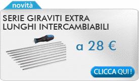 IN PROMOZIONE: Serie giraviti extra lunghi intercambiabili FERVI 0887