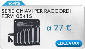 IN PROMOZIONE: Serie chiavi per raccordi FERVI 0541S