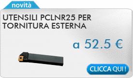 IN PROMOZIONE: Utensili PCLNR25 per tornitura esterna