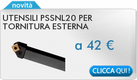 IN PROMOZIONE: Utensili PSSNL20 per tornitura esterna