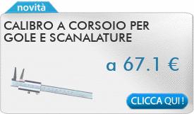IN PROMOZIONE: Calibro a corsoio per gole e scanalature interne 10-160