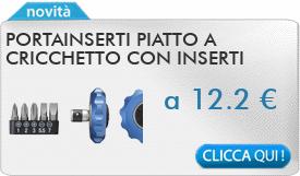 IN PROMOZIONE: Portainserti piatto a cricchetto con inserti FERVI 0547