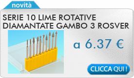 IN PROMOZIONE: Serie 10 lime rotative diamantate gambo 3 ROSVER