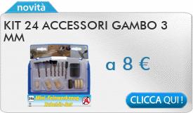 IN PROMOZIONE: Kit 24 accessori gambo 3 mm