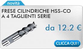 IN PROMOZIONE: Frese cilindriche HSS-Co a 4 taglienti serie normale