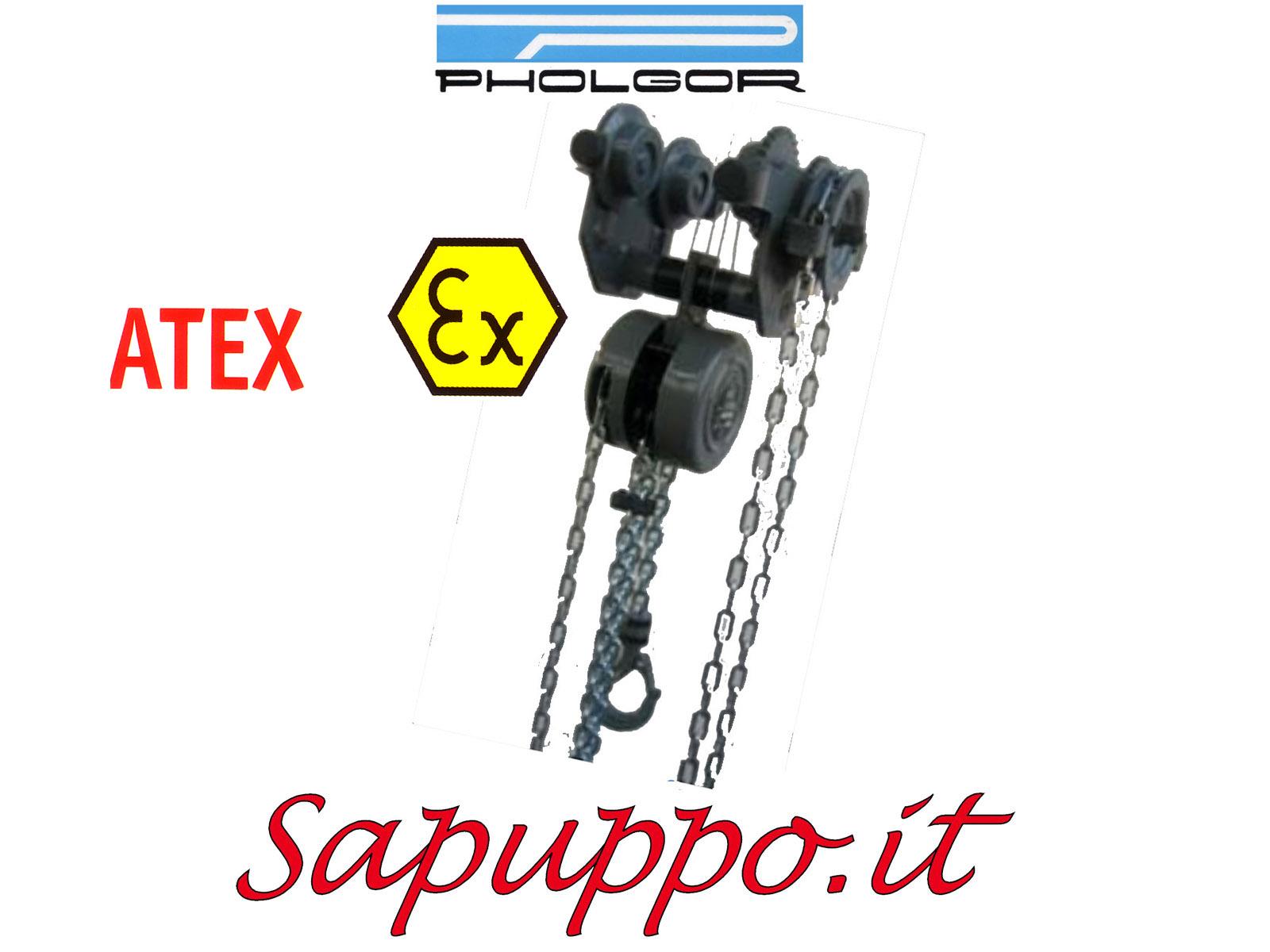 CC-M-ATEX - Paranco manuale combinato con carrello tipo CC-M versione speciale ATEX
