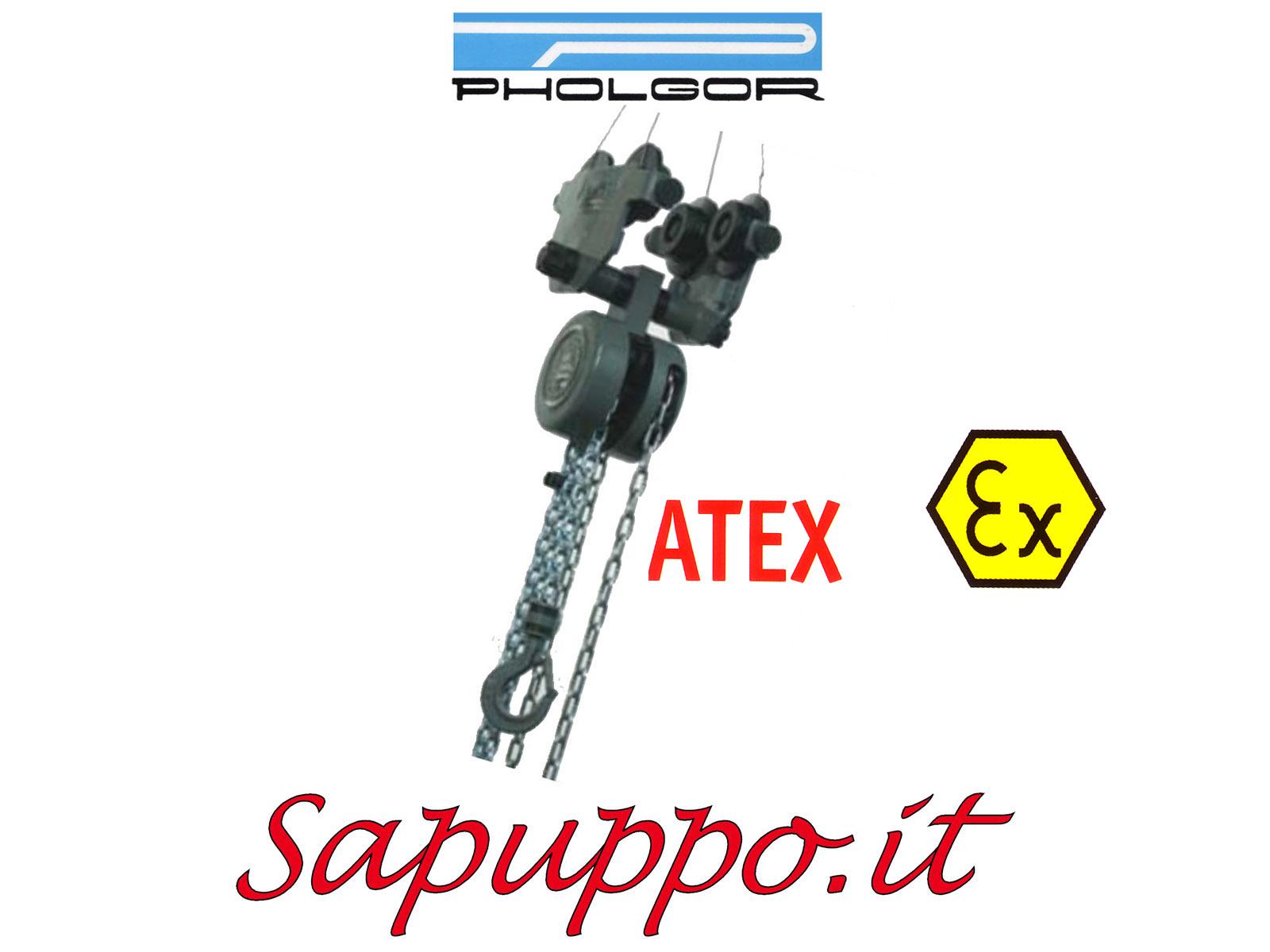 Paranco manuale combinato con carrello tipo CC-S versione speciale ATEX - PHOLGOR