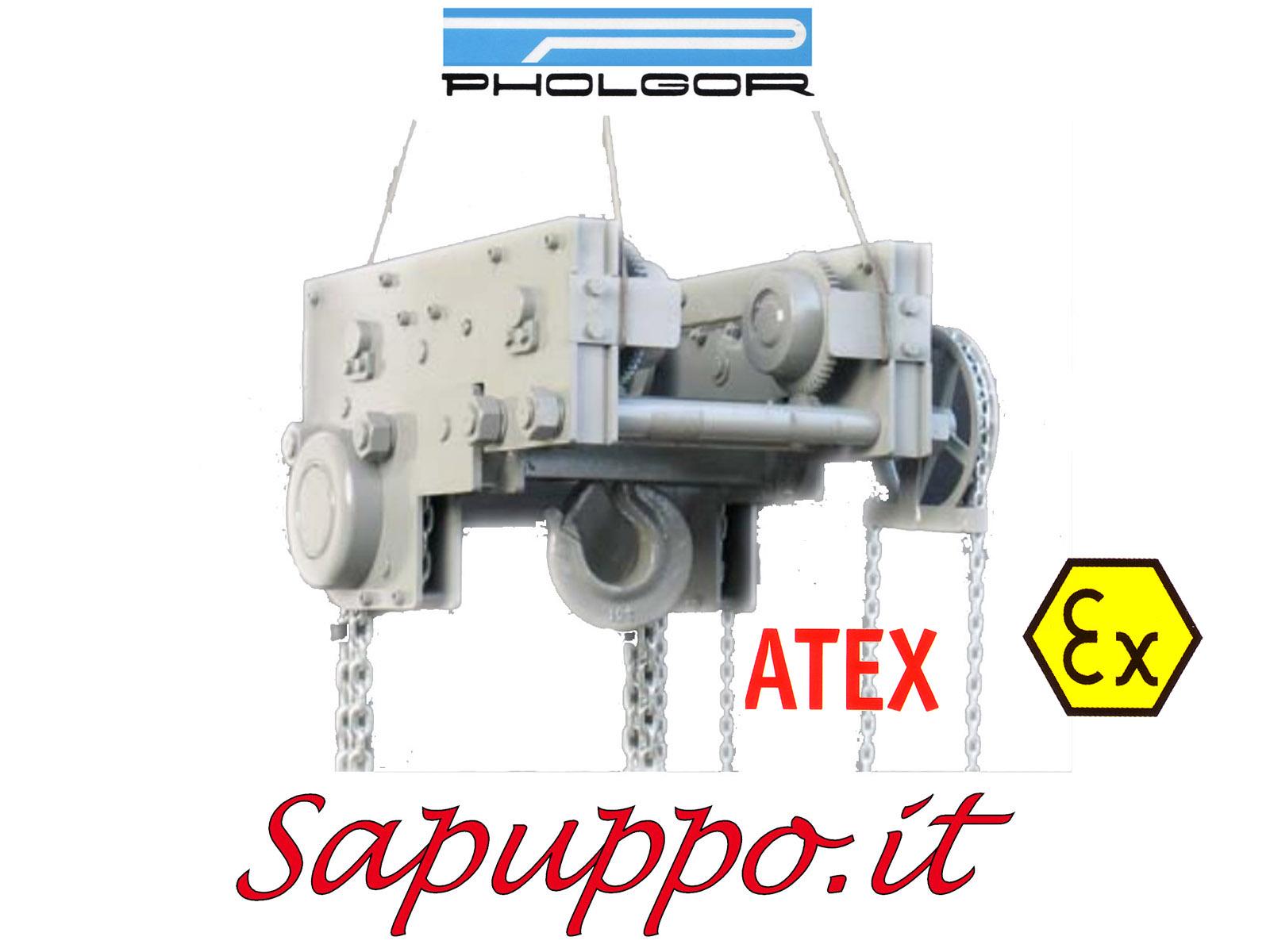 Paranco manuale combinato con carrello tipo CR versione speciale ATEX - PHOLGOR