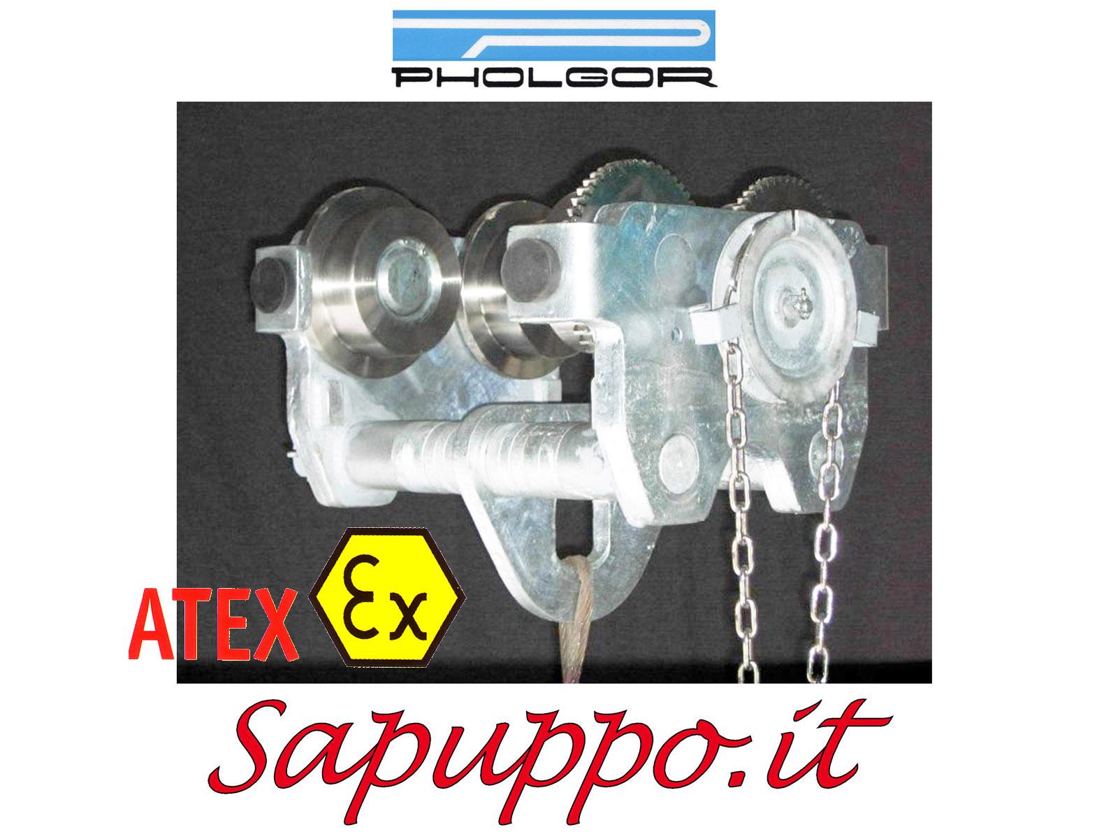 Carrello portaparanco meccanico tipo MC versione speciale ATEX - PHOLGOR