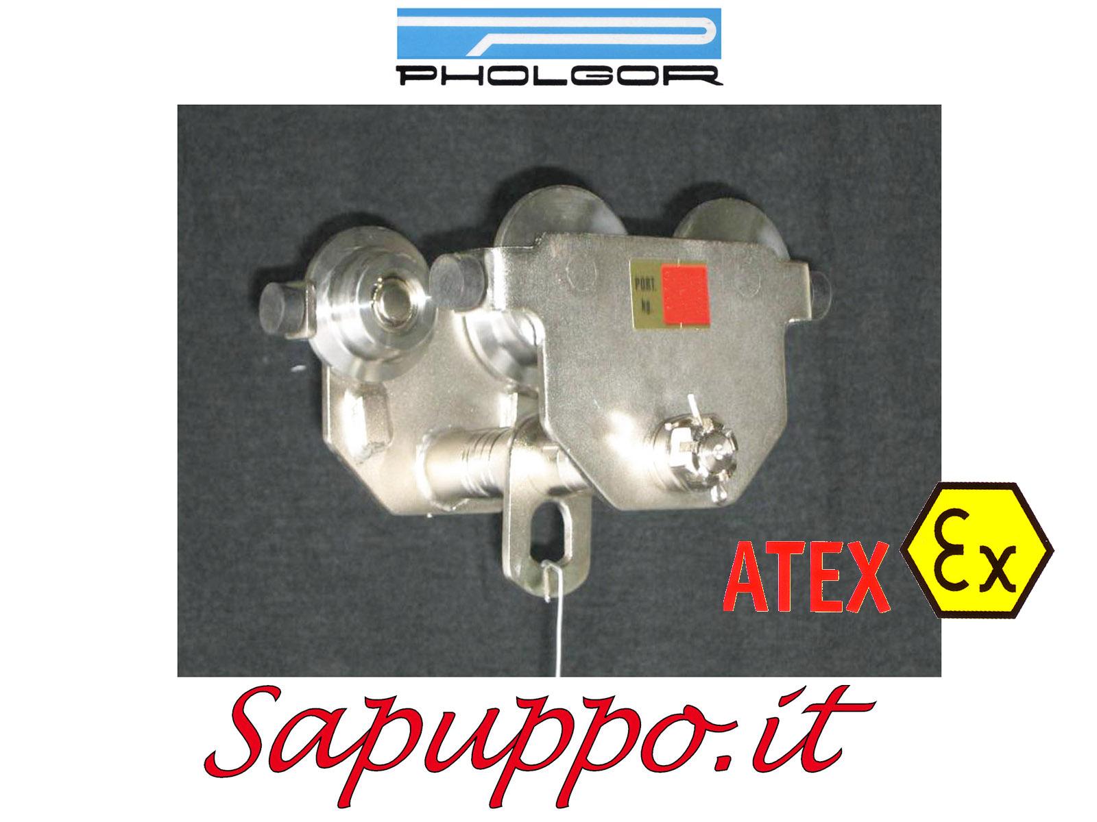 SC-ATEX - Carrello portaparanco a spinta tipo SC versione speciale ATEX