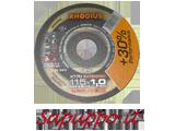Disco da taglio extra sottile per inox 115 x 1.0 RHODIUS XT70