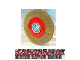 Spazzole circolari in acciaio ottonato - Vendita online su Sapuppo.it