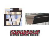 Cinghie trapezoidali sezione SPB - CINGHIA SPB 2800   ROFLEX