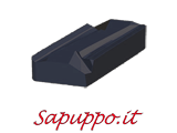 Placchette sinistre KNUX 160405-L01 AB425 per inox