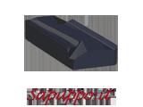 Placchette destre KNUX 160405-R01 AB425 per inox