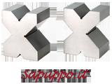Coppia di prismi rettificati forma a X FERVI