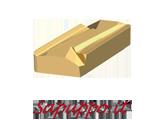 Placchette KNUX 160405 L N conf. 10 inserti