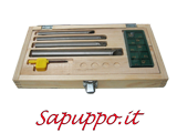 Kit 4 utensili per interni SCLCR per placchette CCMT06