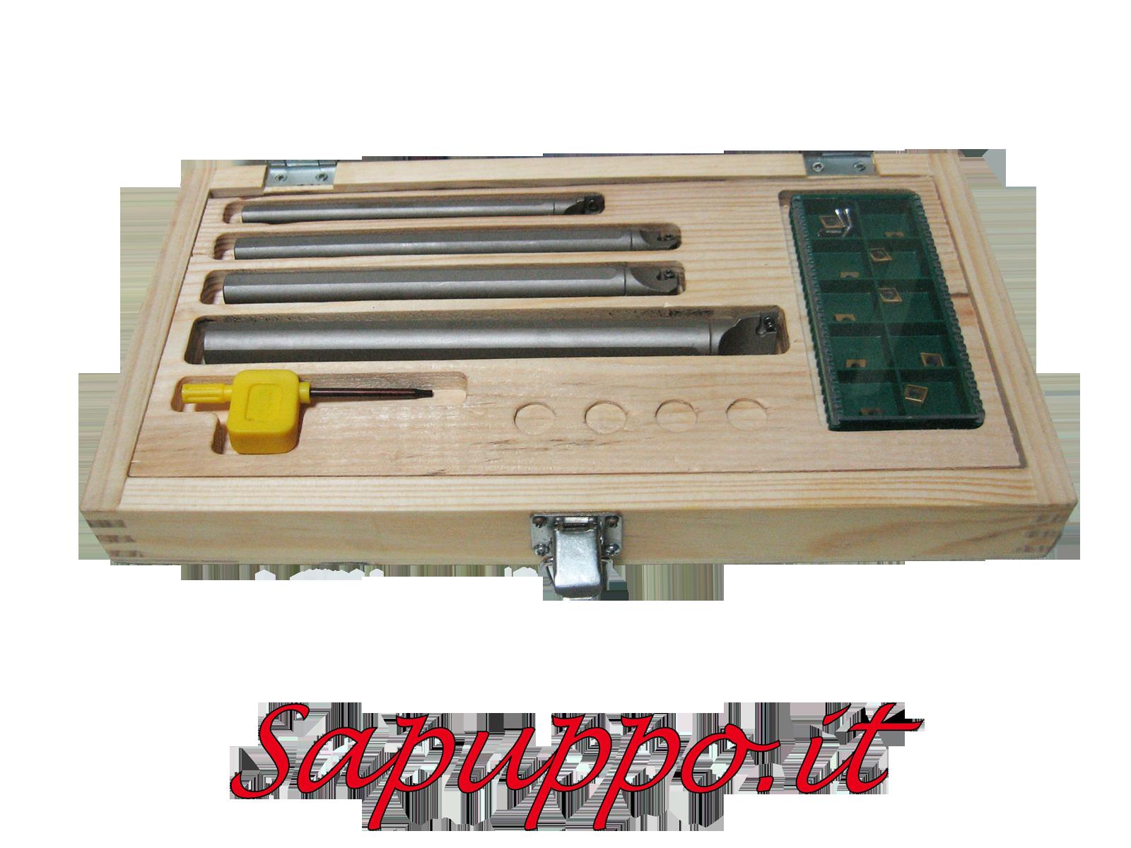 Kit 4 utensili per interni sclcr per placchette ccmt06 for Kit tornio