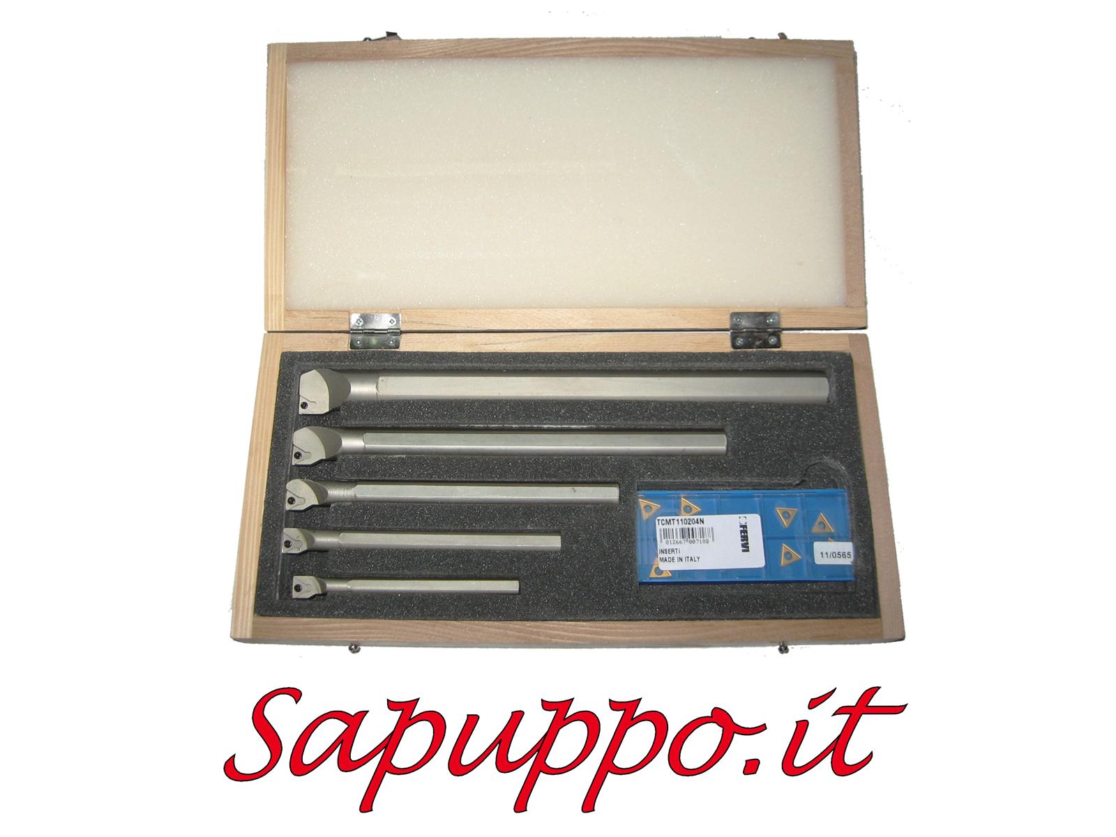 Kit 5 utensili stfcr 10 inserti tcmt inclusi sapuppo for Kit tornio